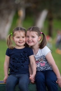 Nicolle's daughters Ava (left) and Hannah (right)