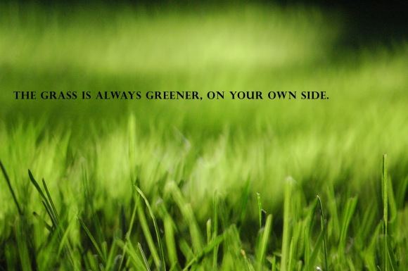 The grass is greener, on your own side.